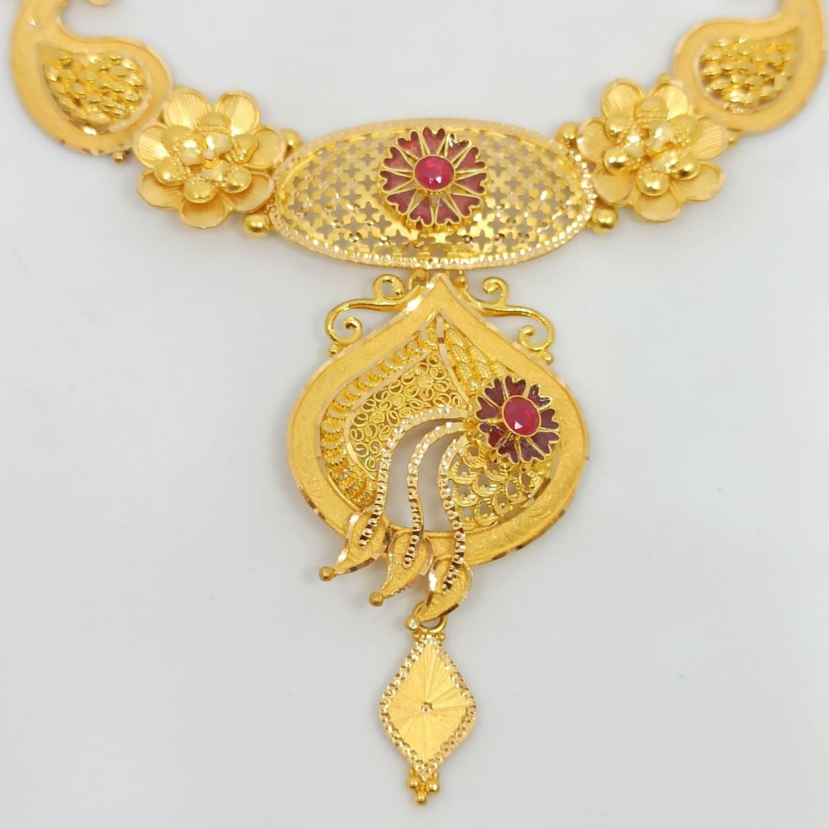 Floral Designer Necklace