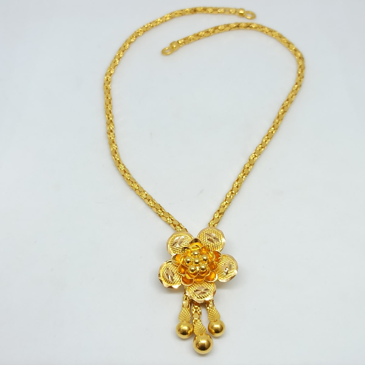 Rose Ball Chain Necklace