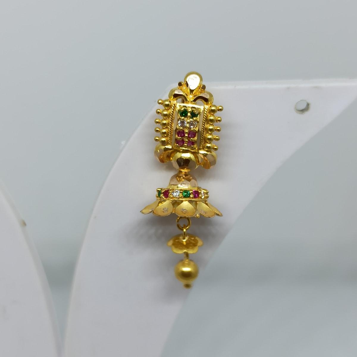 Colourstone Cz Designer Earrings