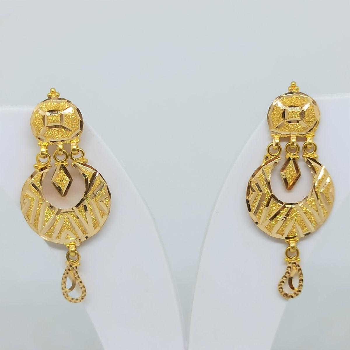 Plain Gold Slash Chaandbali