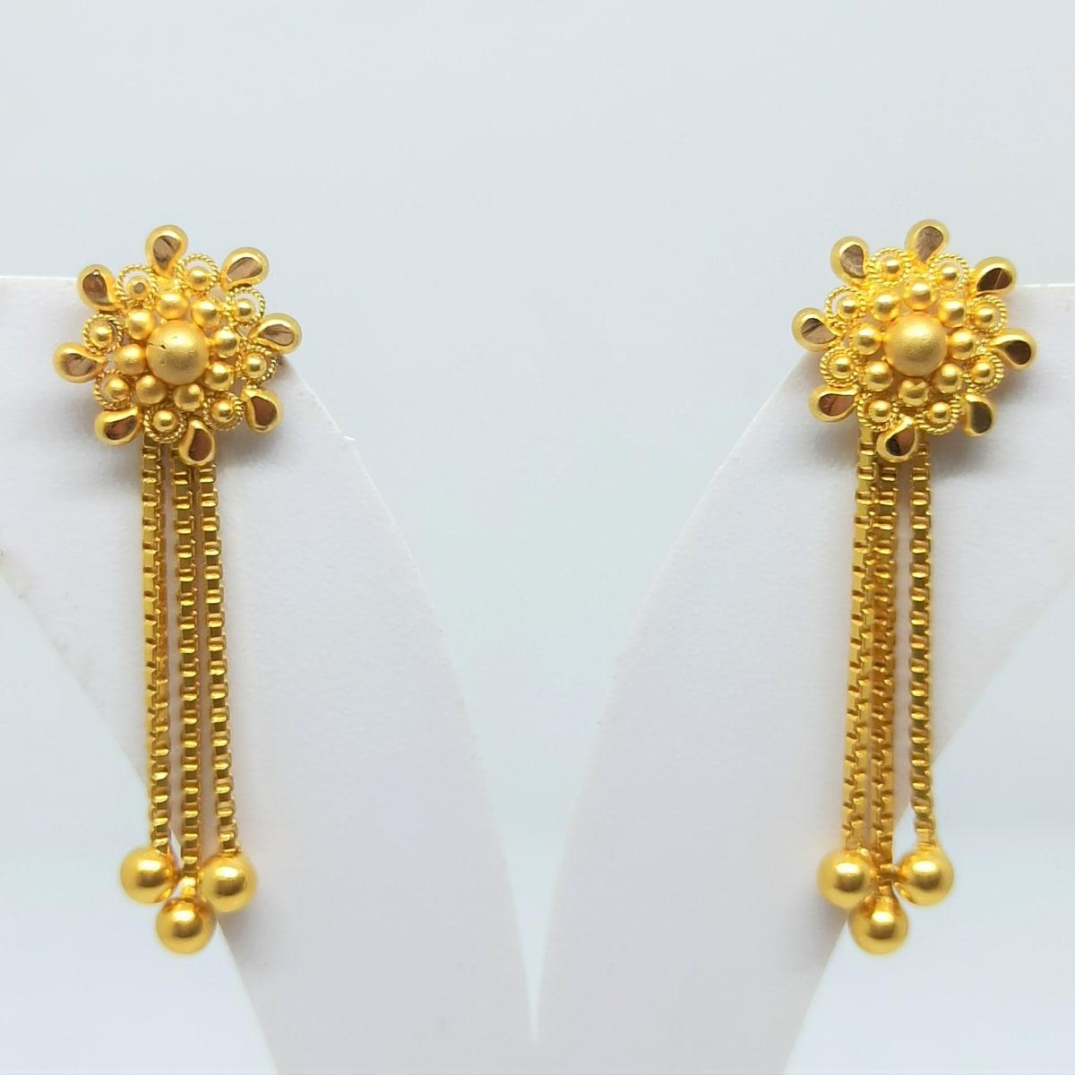 Sitara Drop Chain Earrings