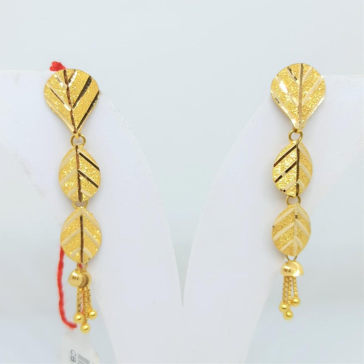 Plain Gold Leaf Earrings