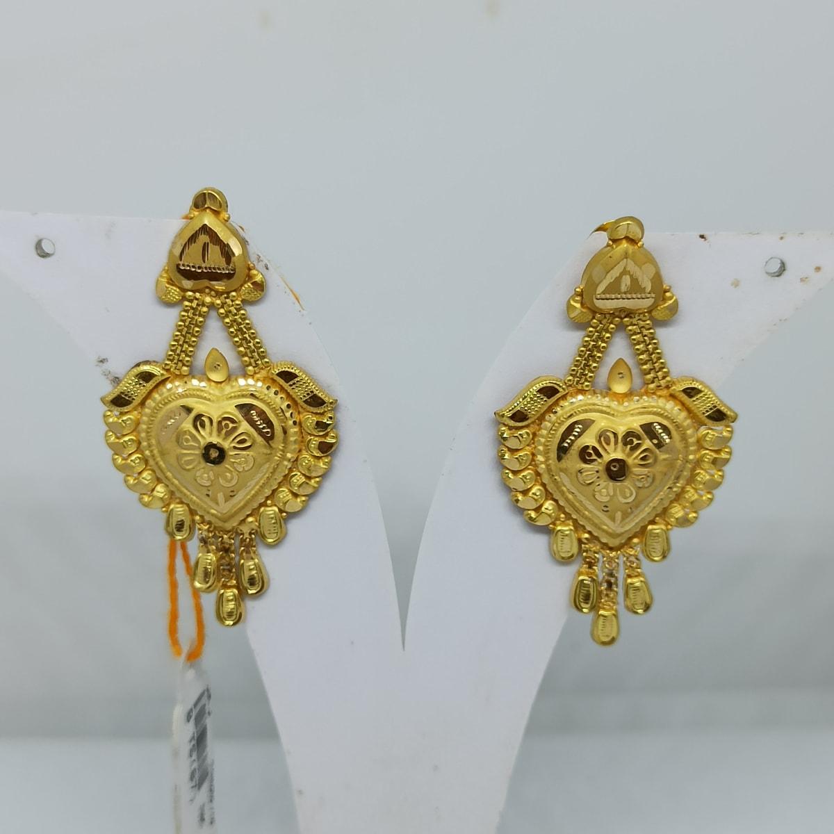 Aruna Plain Gold Earrings