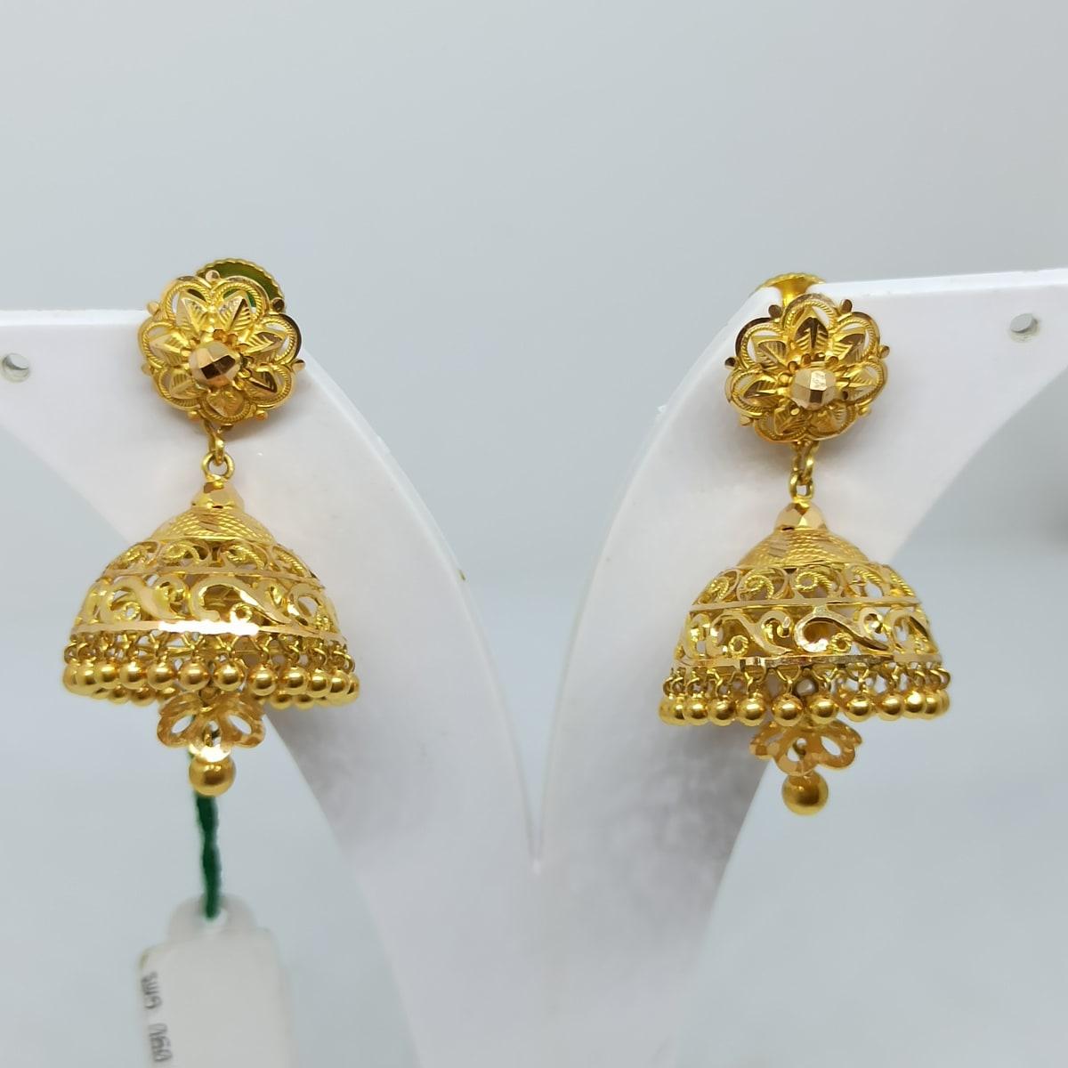Plain Gold Nakashi Jhumka