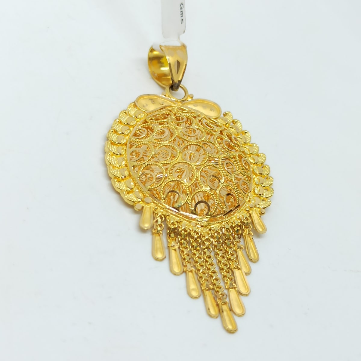 Round Jali Chain Pendant