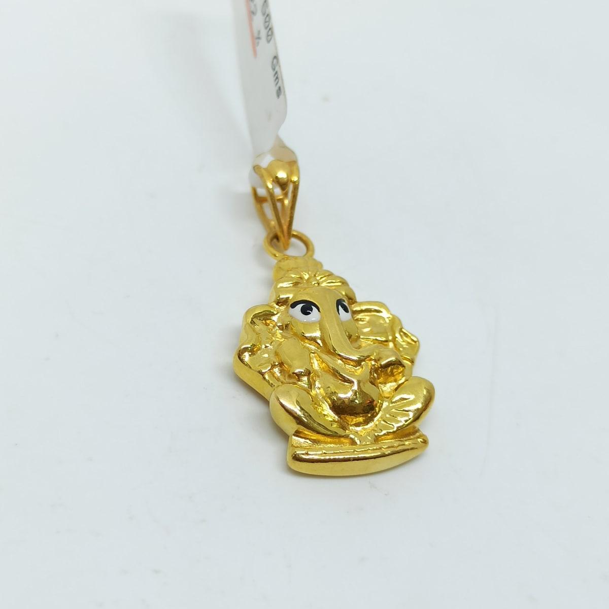 Gajanand Gold Pendant