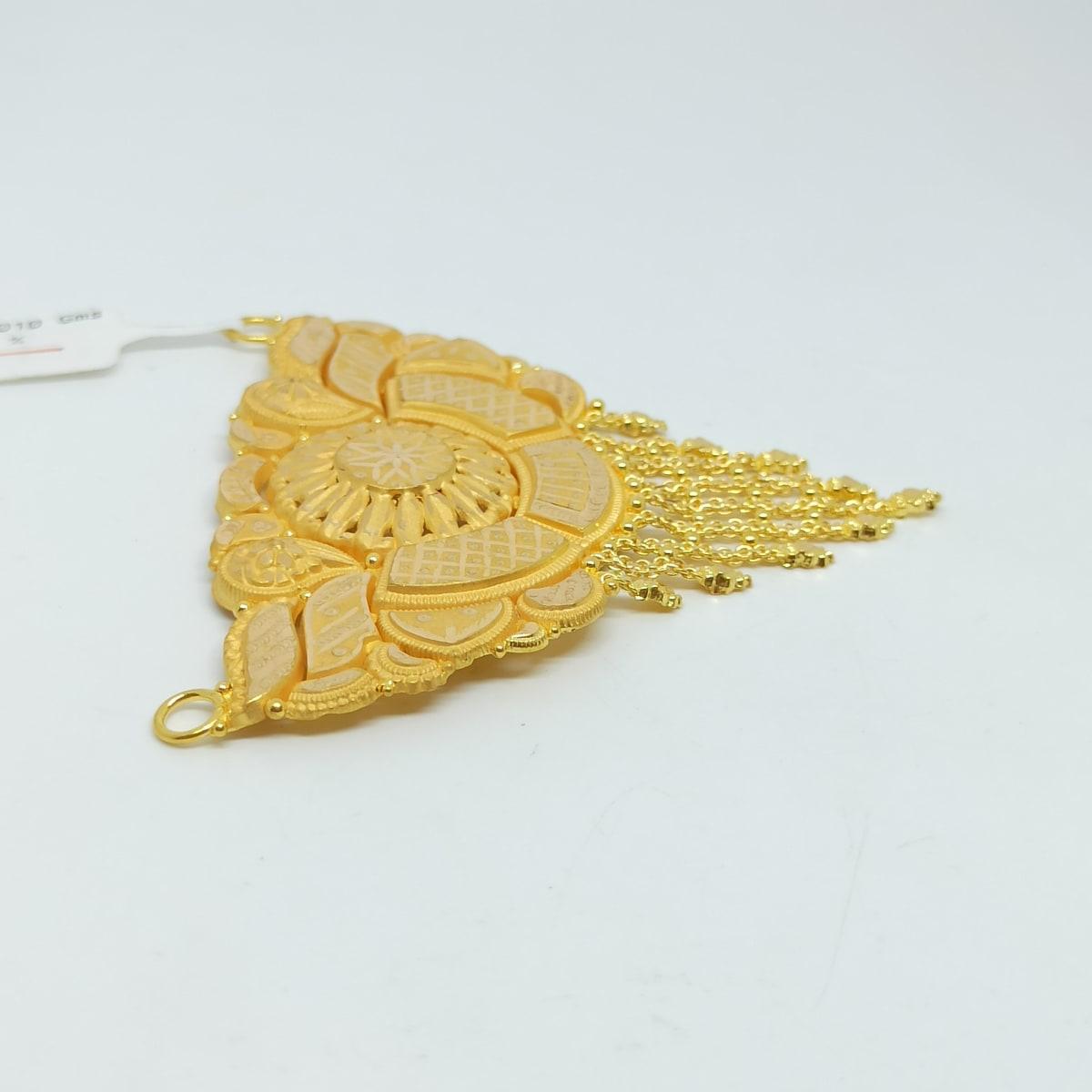 Samiksha Plain Gold Pendant