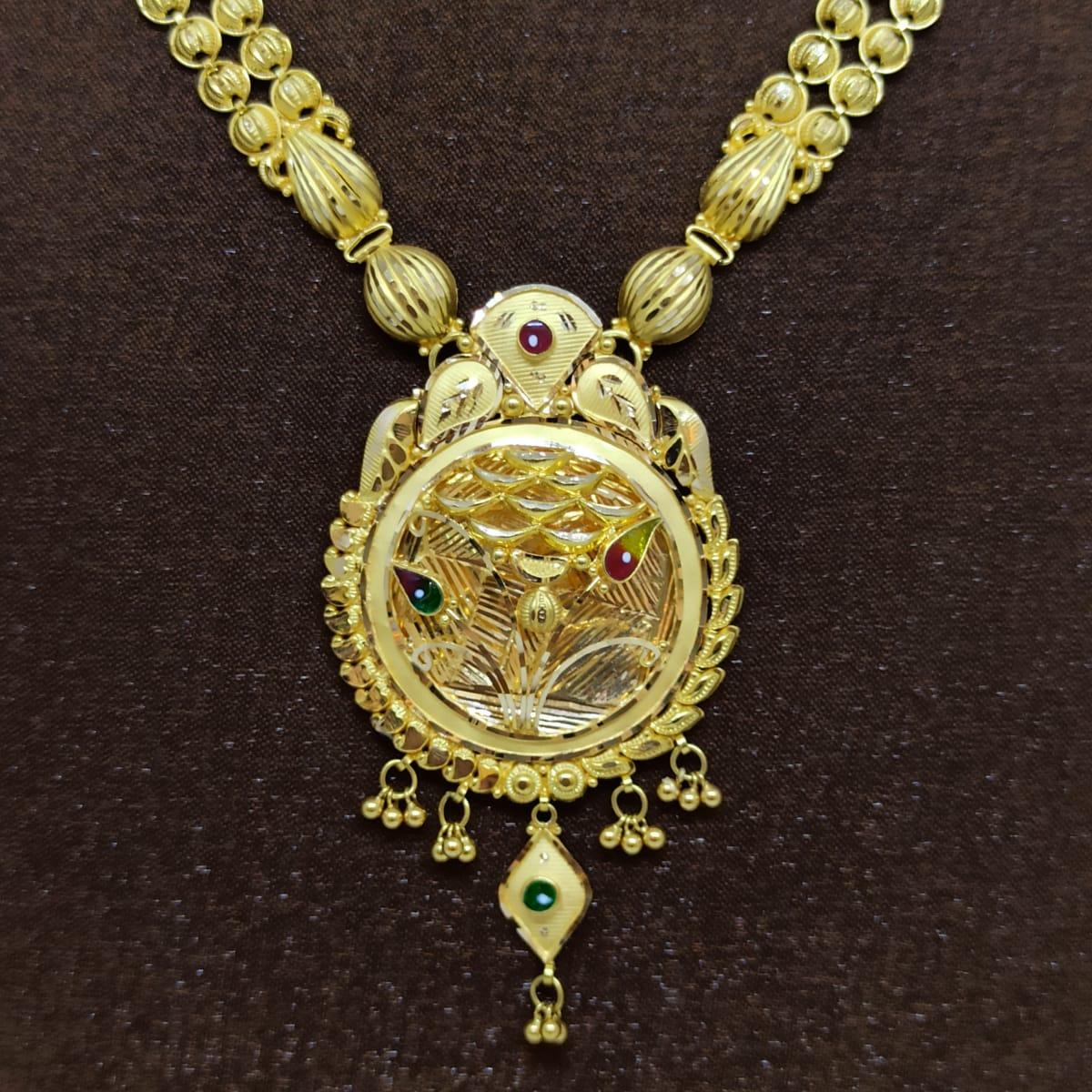Round Net Designer Necklace