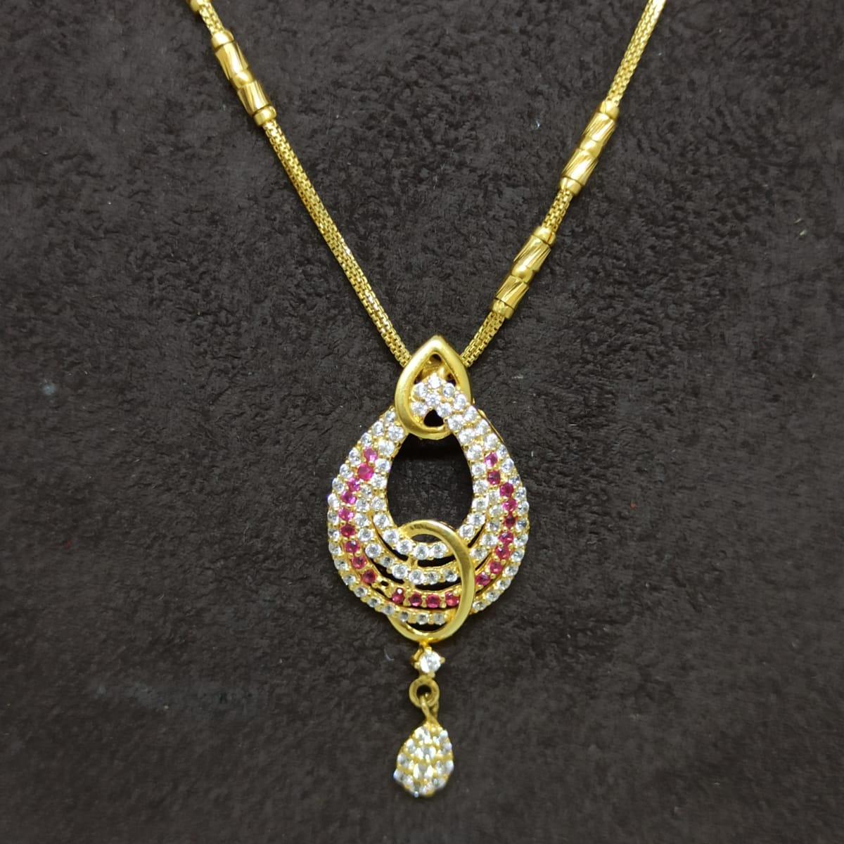 Colorstone Cz Chain Necklace