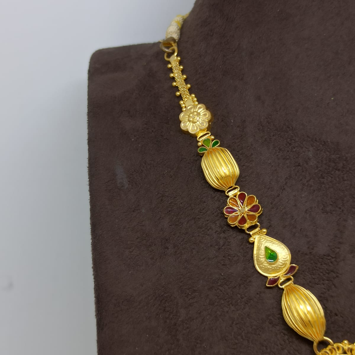 Peacock Bead Traditional Necklace
