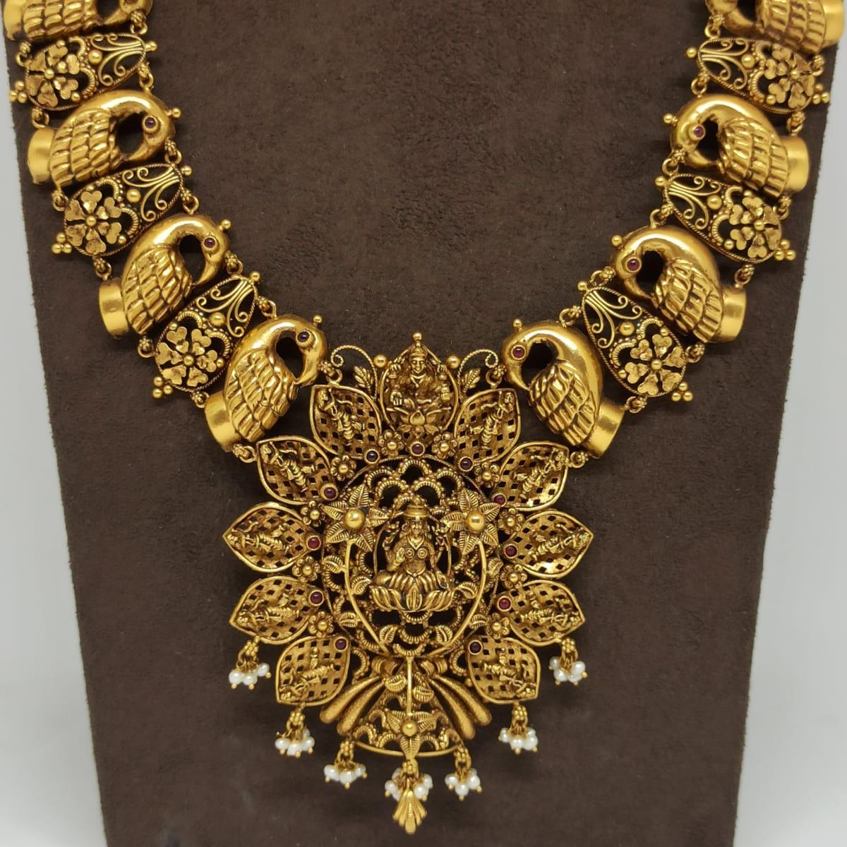 Lakshmi Antique Floral Necklace