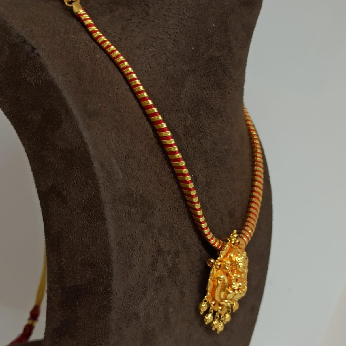 Gold Thread Lakshmi Necklace