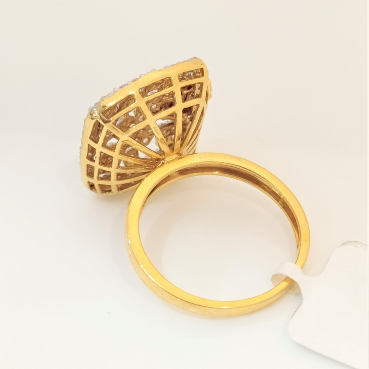 Rounded Square Cz Ring