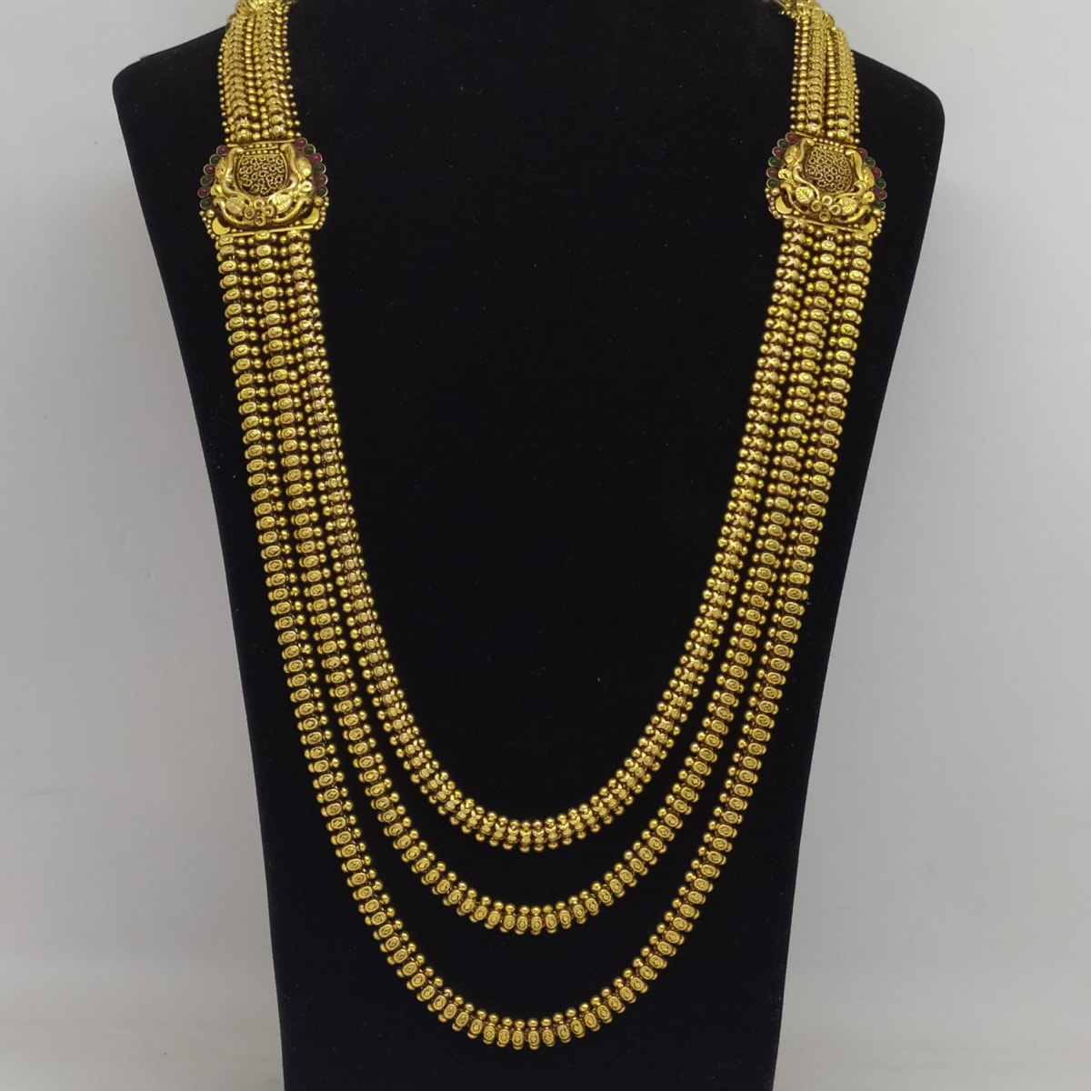 3 Line Antique Gold Haram