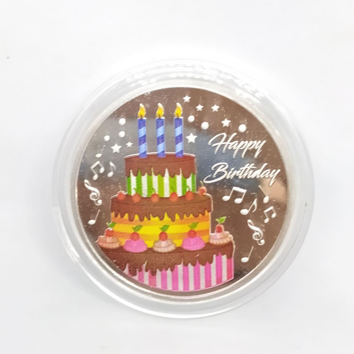 Happy Birthday Silver Coin