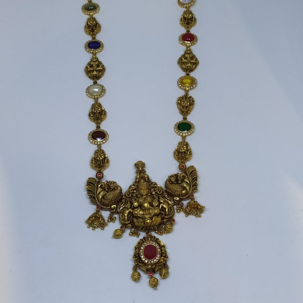 Antique Lakshmi And Peacock Haram