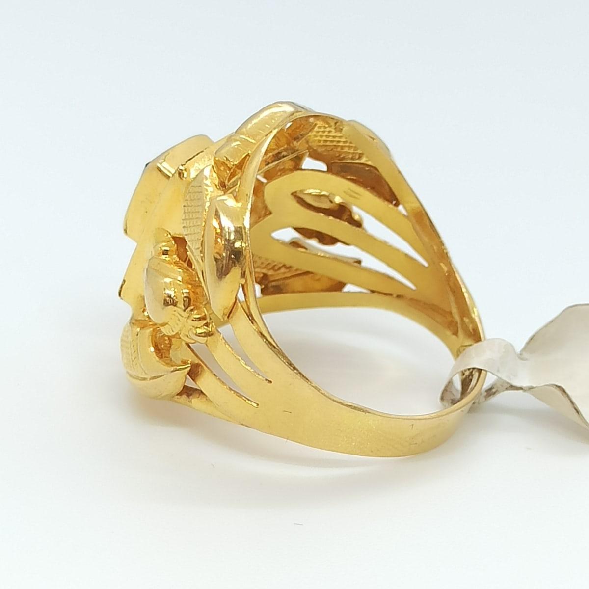 Emerald Cz Gold Ring