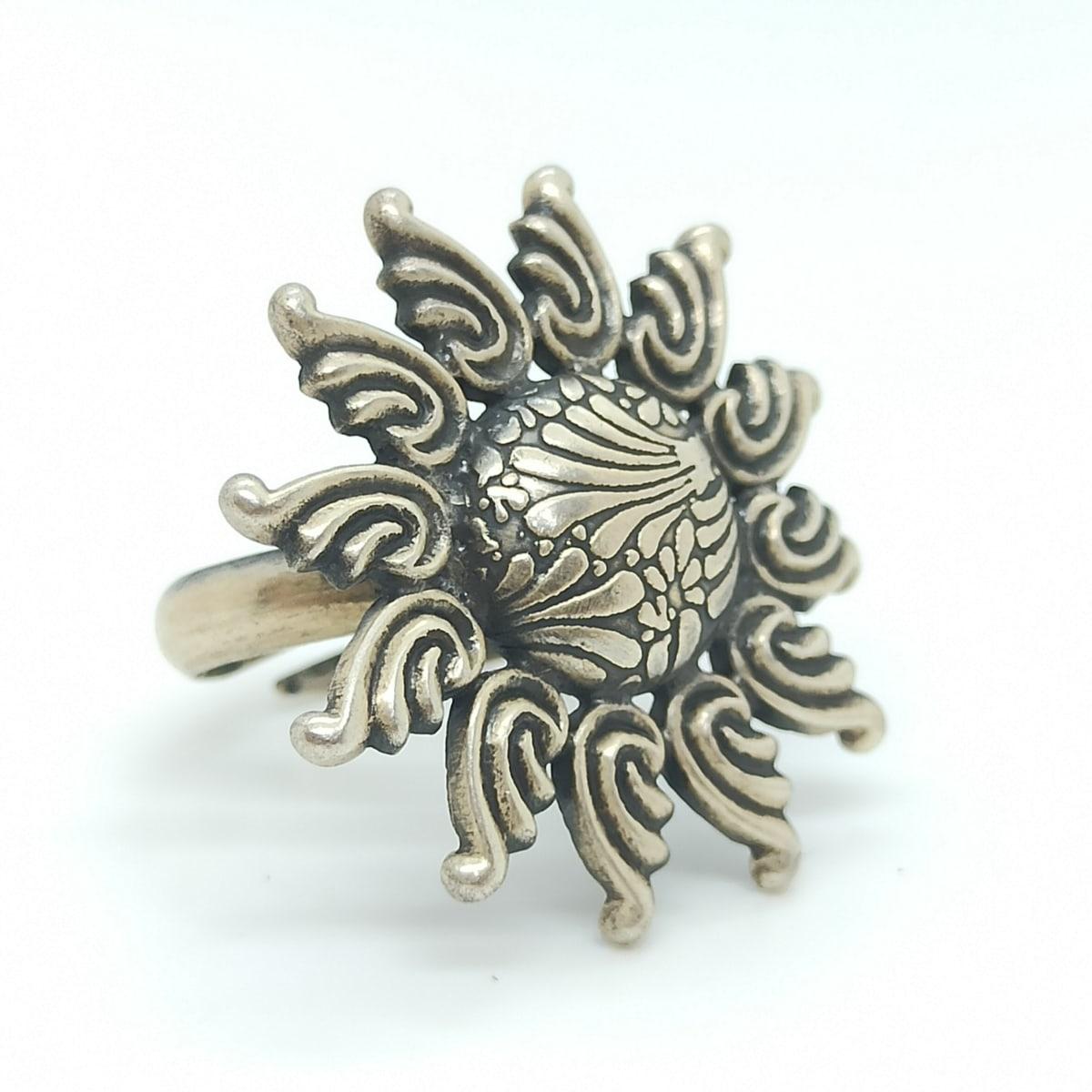 Sunflower Oxidized Ring 2