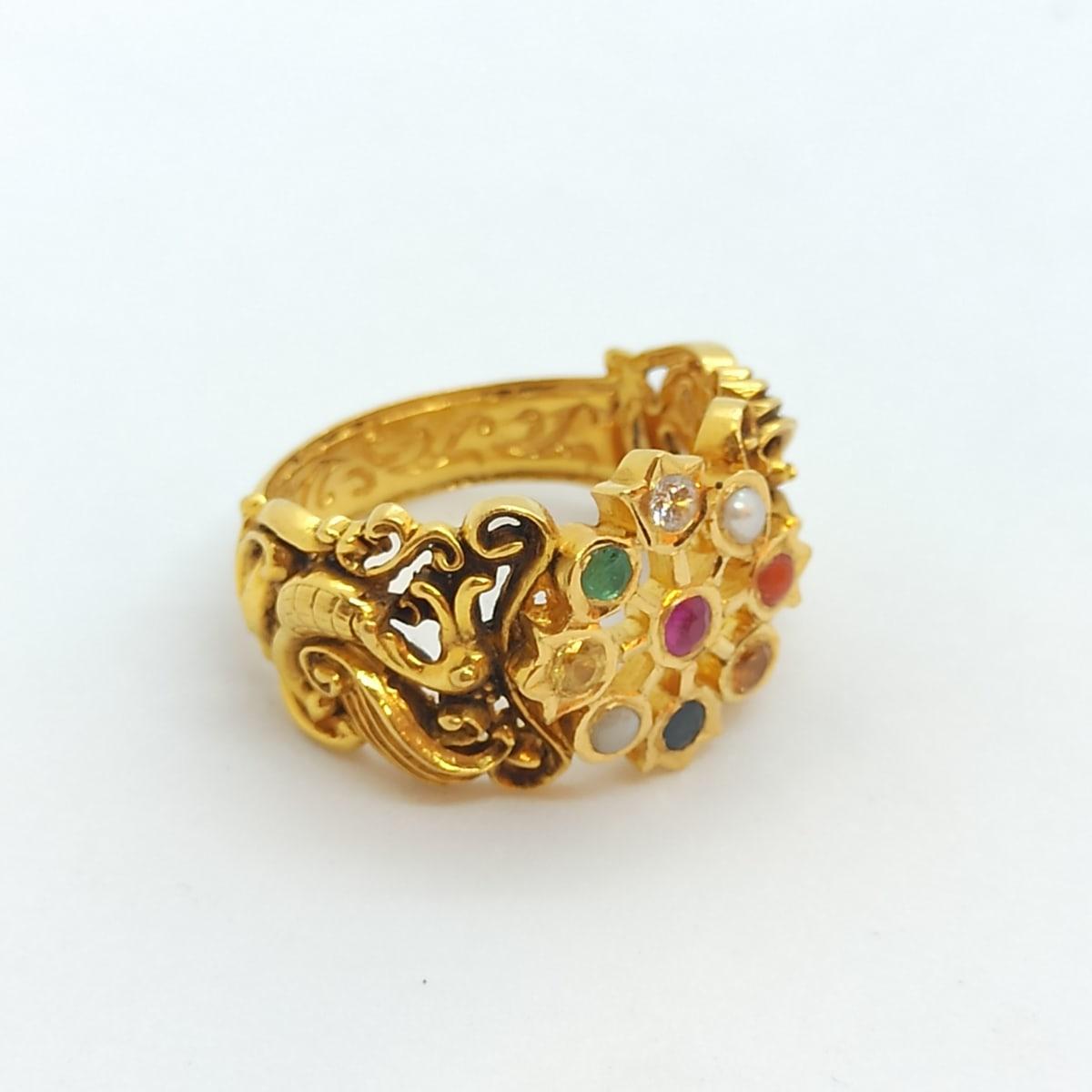 Navrathna Antique Ring