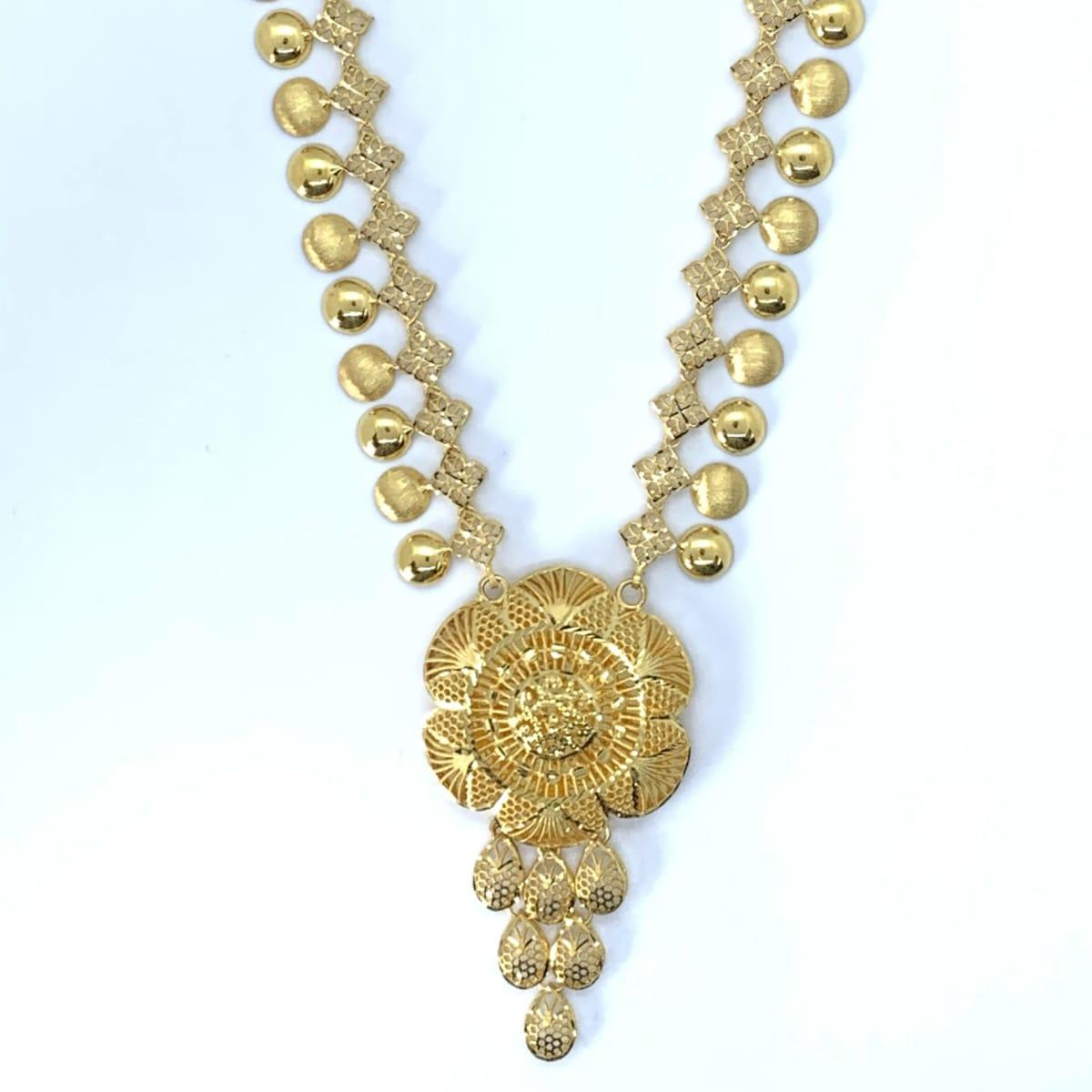 Designer Plain Gold Long Haram