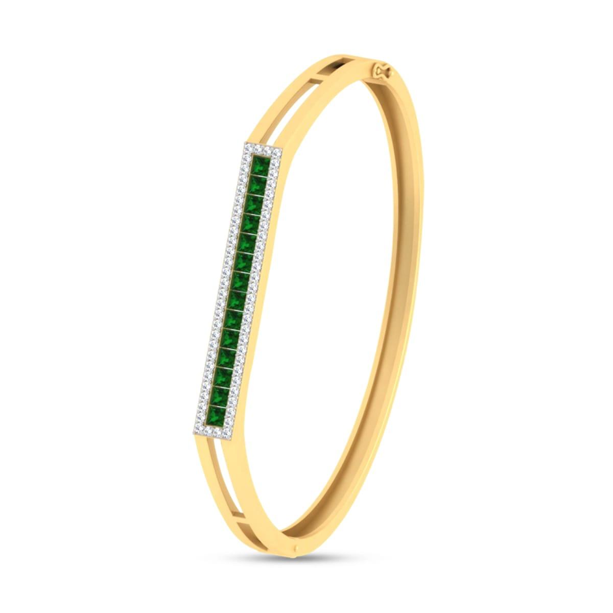 Green Stone Real Diamond Bracelets