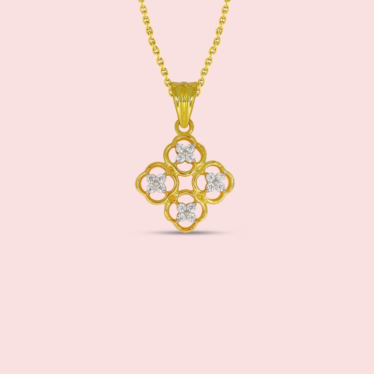 Yellow Gold Real Diamond Pendant