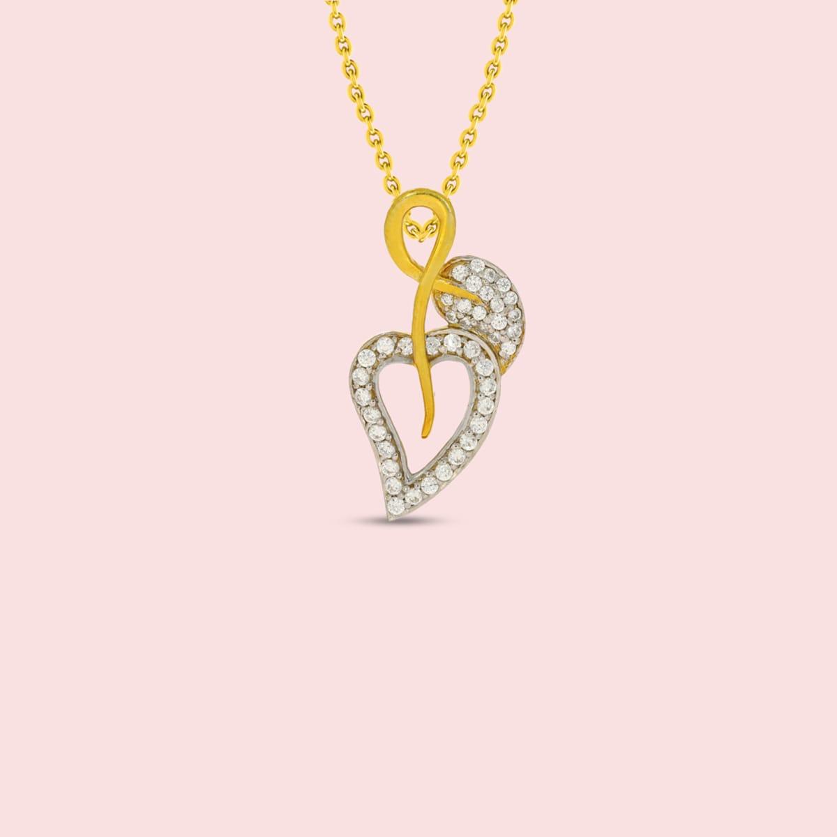 18kt Heart Shape Real Diamond Pandant