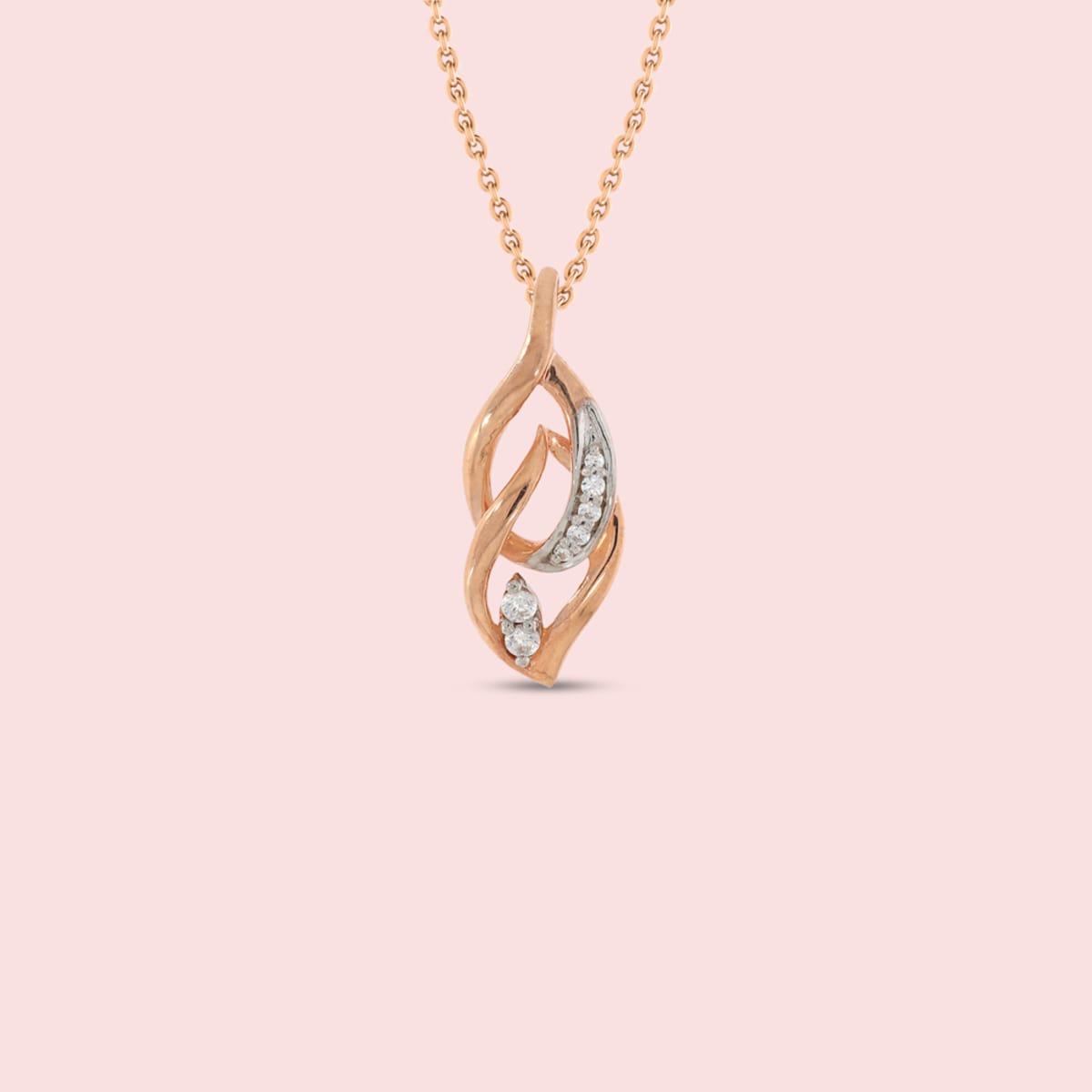 18kt Real Diamond Pendant