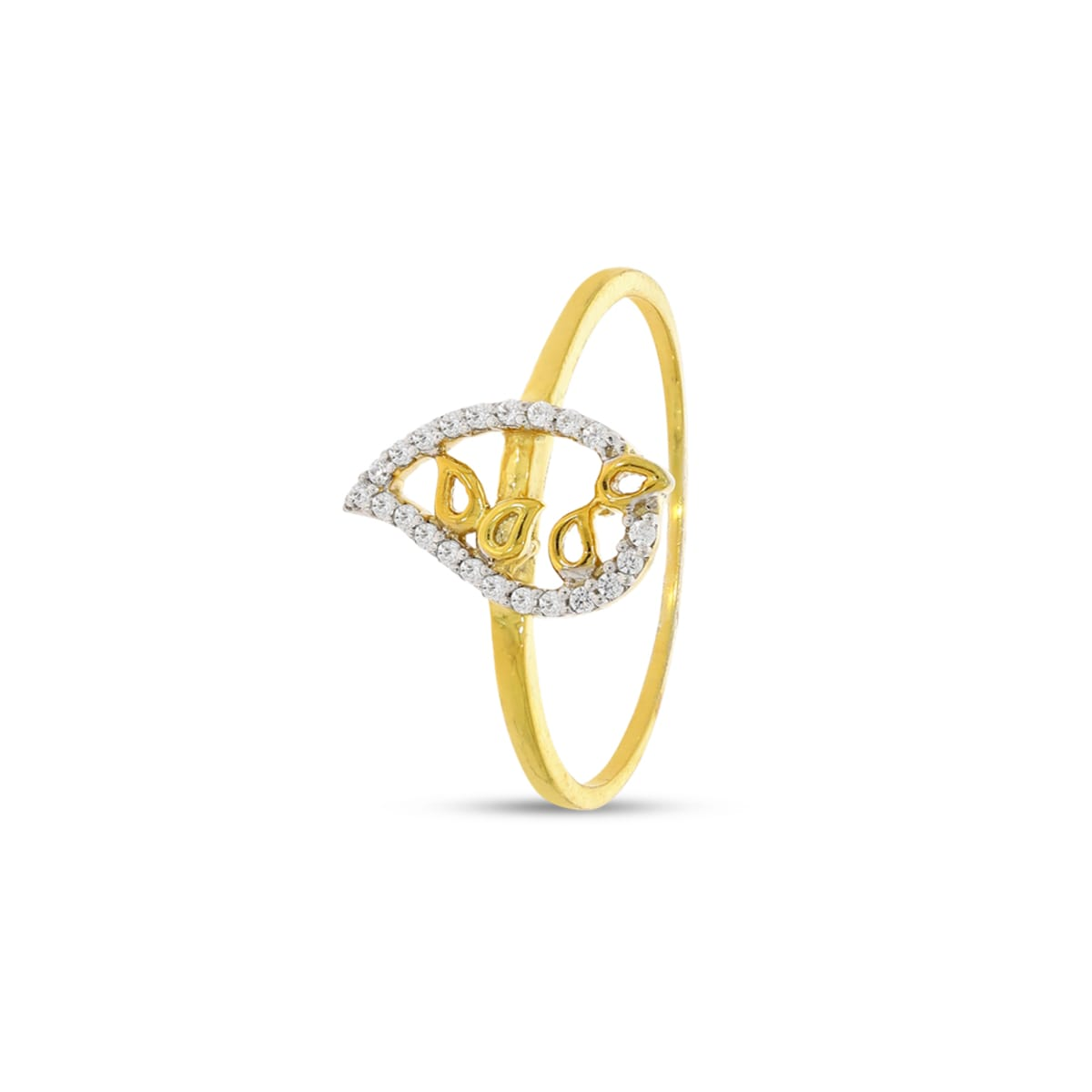 5 Leaf Shape Real Diamond Ring