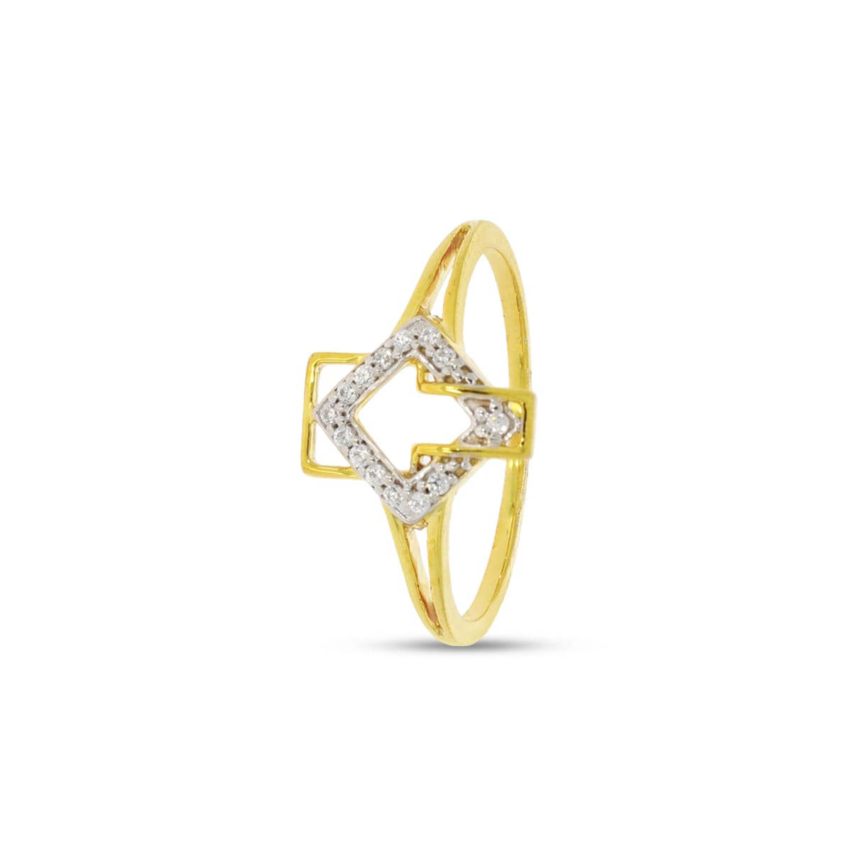 14 Pcs Rhombus Shape Real Diamond Ring