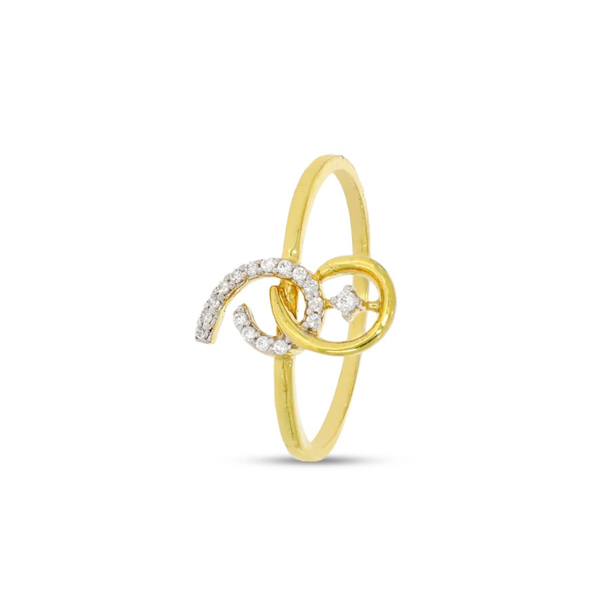 Doubel 6 Shape Real Diamond Ring