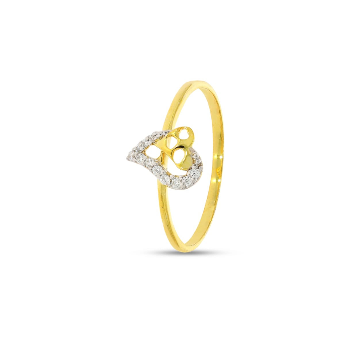 Heart Shape With 11 Pcs Diamond Ring