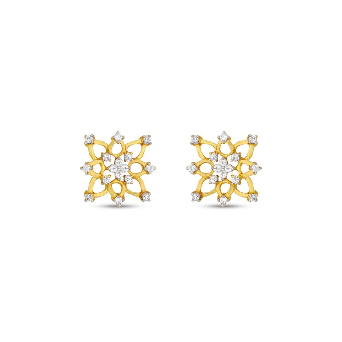 Real Diamond Stud Earring 14