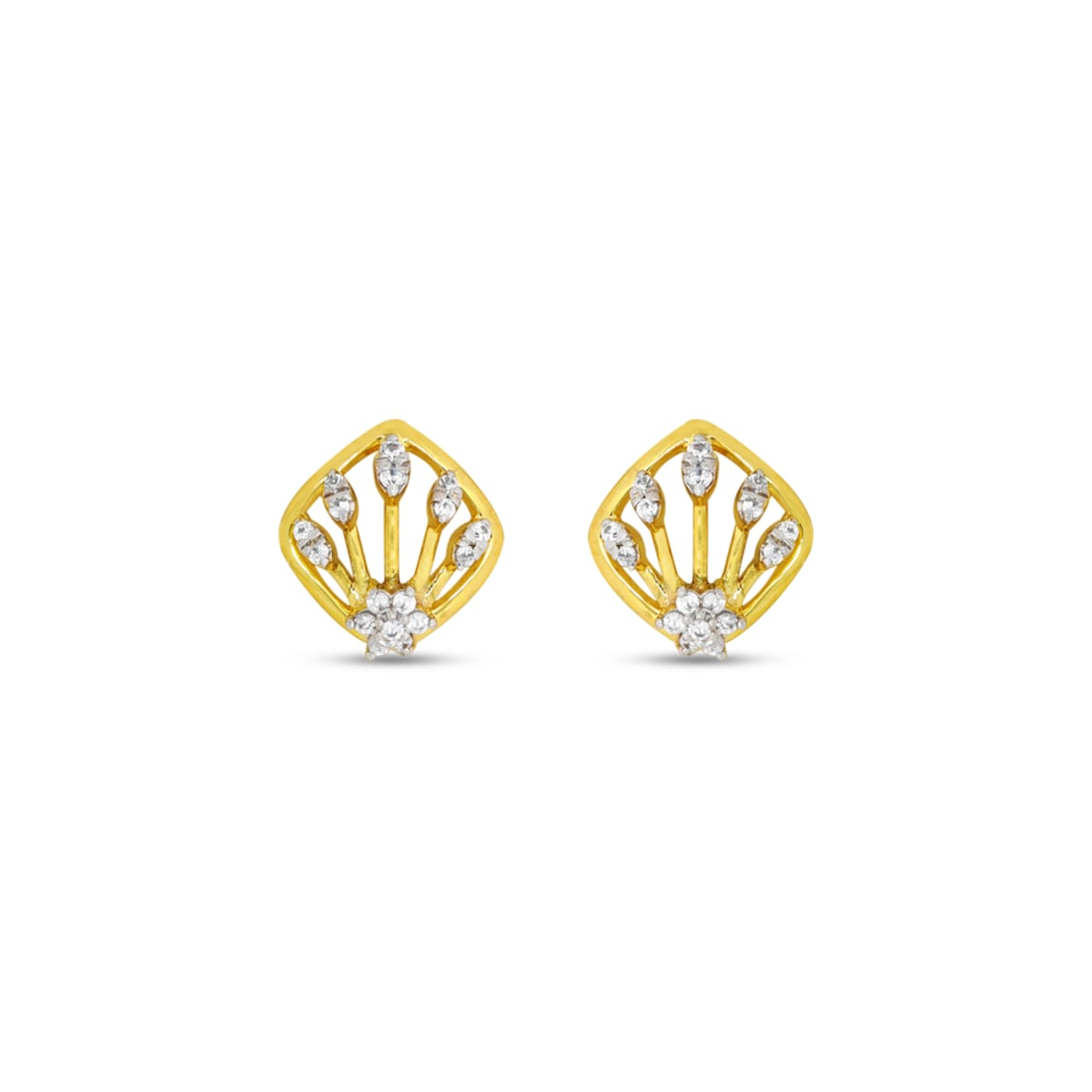 Real Diamond Stud Earring 17