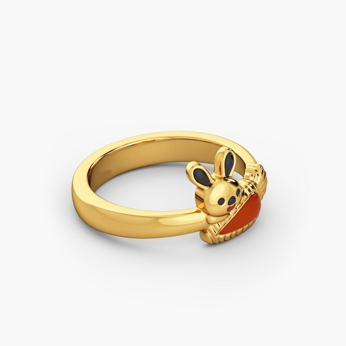Rabbit Cz Kid Ring