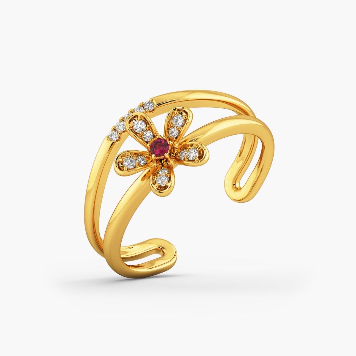 Designer Cz Gold Ring 5