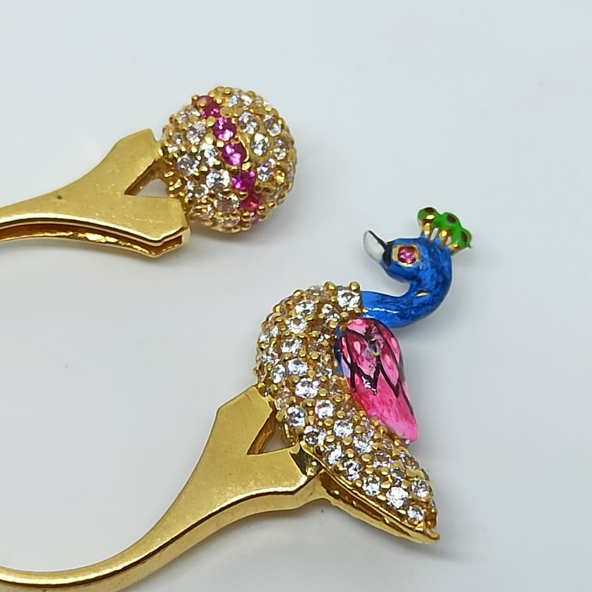 Cz Peacock Ring