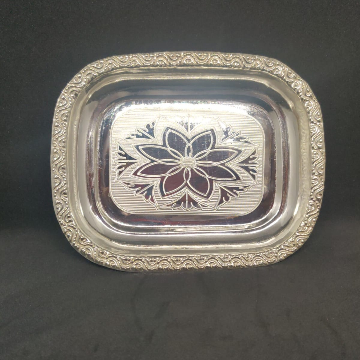 Rectangle Silver Plate