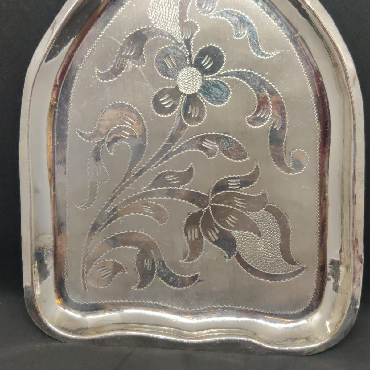 Banana Leaf Silver Plate