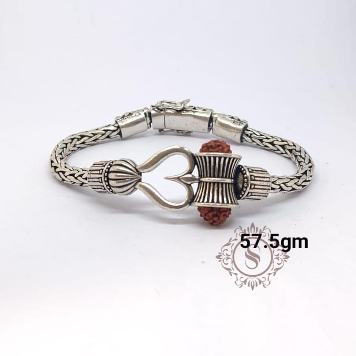 925 Oxidised Rudraksh Bracelet