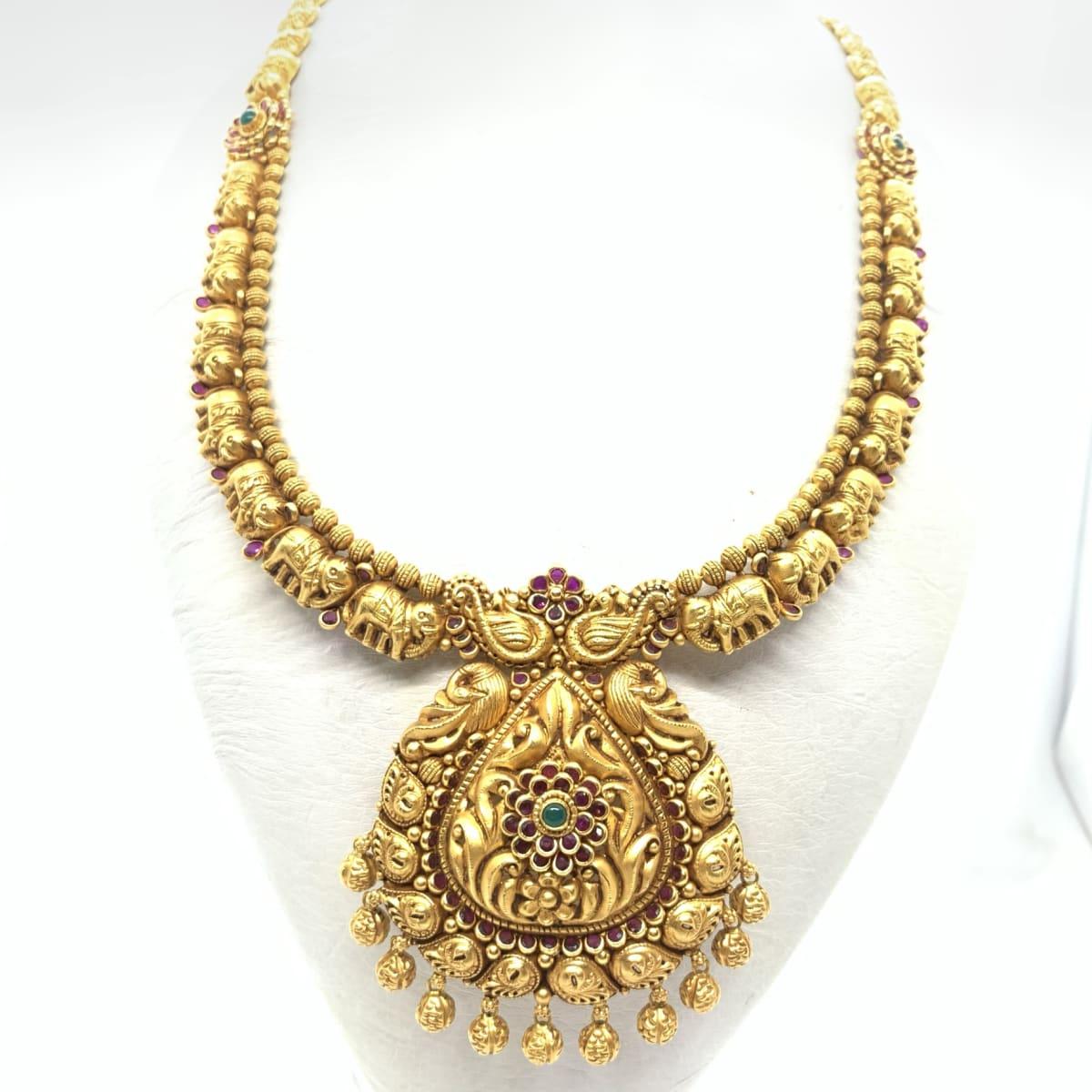 Gold Antique Floral Haram