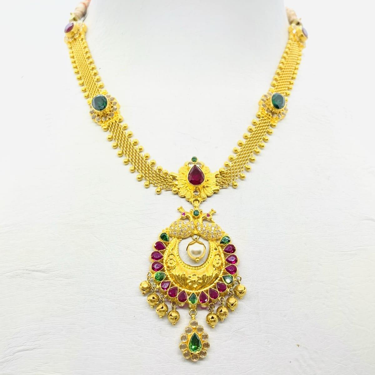 Gold Cz Designer Necklace