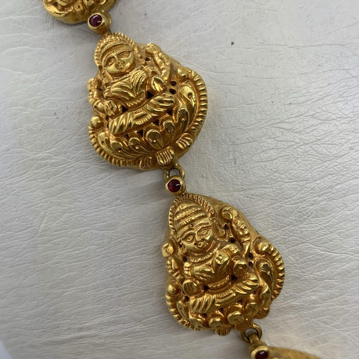 Long Lakshmi Antique Haaram