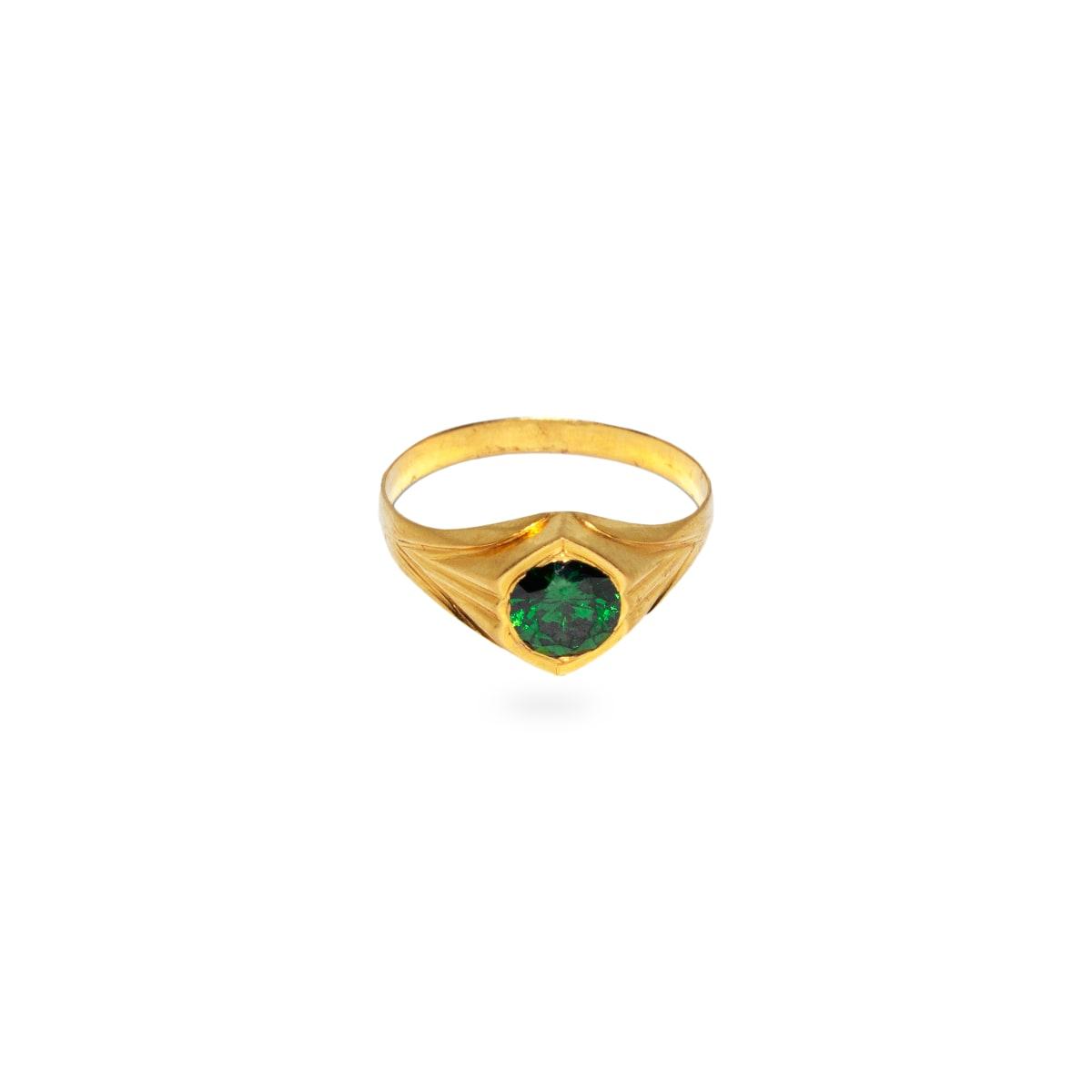 Fancy Green Stone Ring