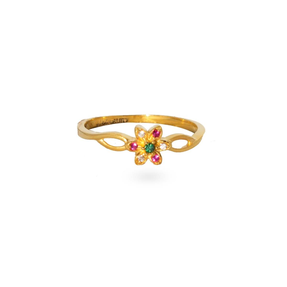 Colour Flower Ladies Ring