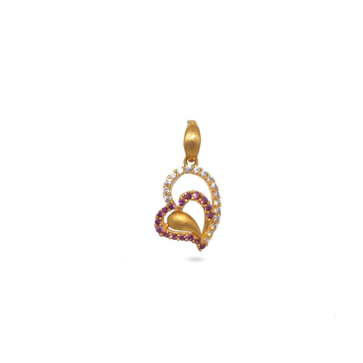 Double Heart In Pendant