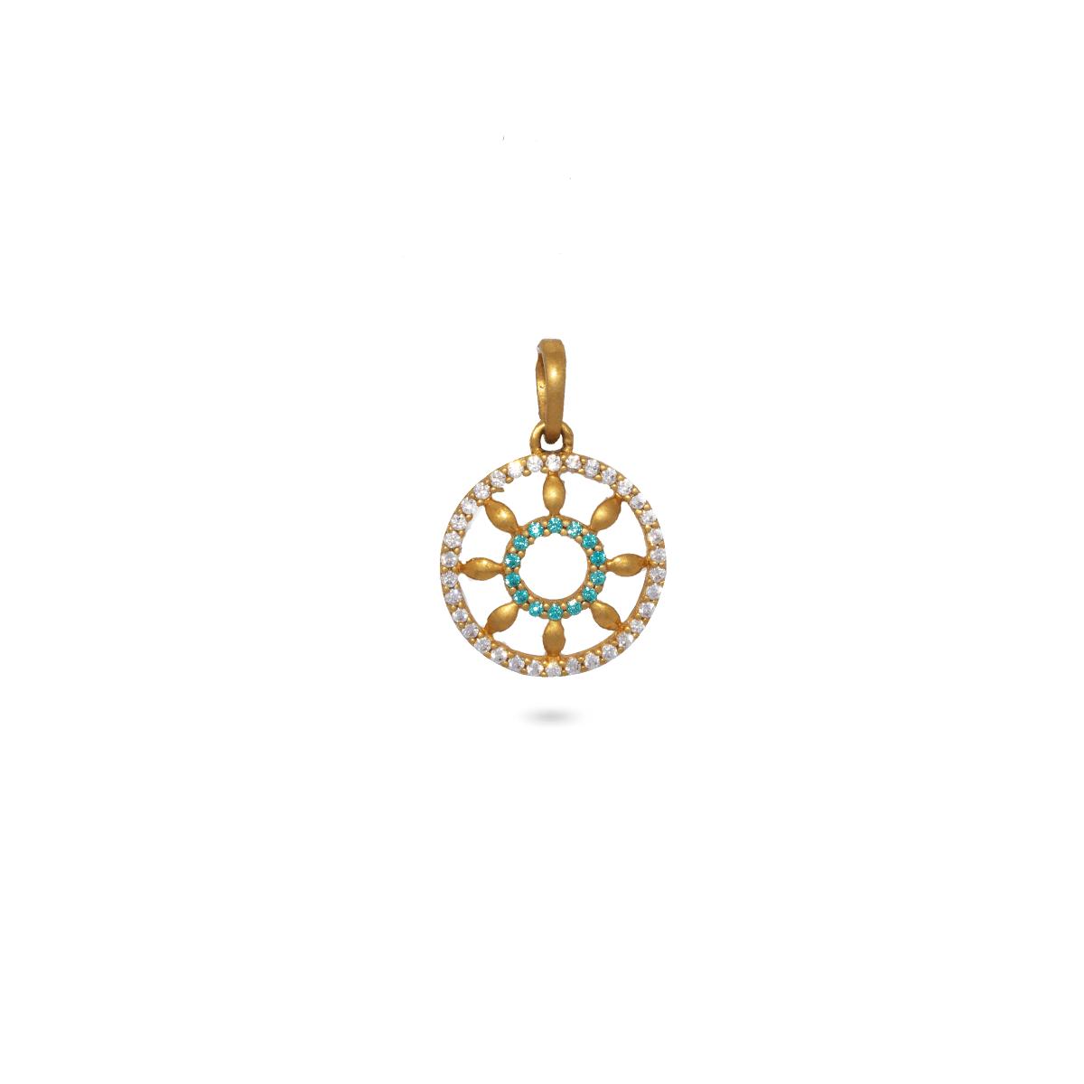 Stone Wheel Pendant