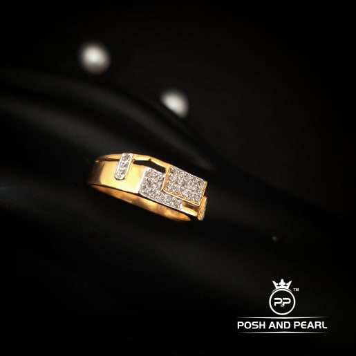Cz Two Square Ring
