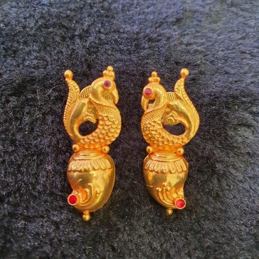 Peacock Shanku Studs
