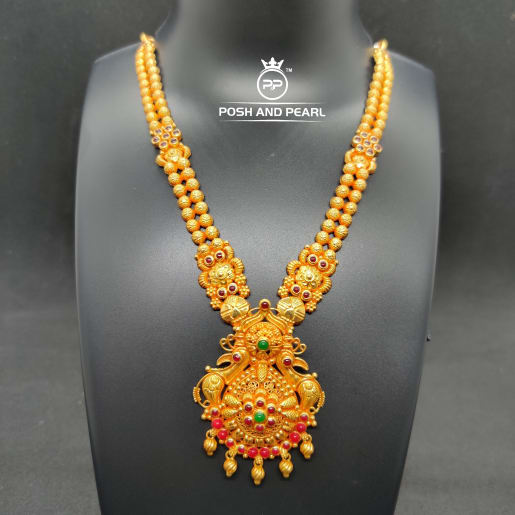 Peacock Short Gundu Necklace